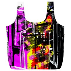 Abstract City View Full Print Recycle Bags (L)