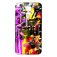 Abstract City View Samsung Galaxy S5 Back Case (white)