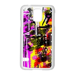 Abstract City View Samsung Galaxy S5 Case (White)