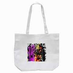 Abstract City View Tote Bag (white)