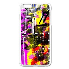 Abstract City View Apple Iphone 6 Plus Enamel White Case