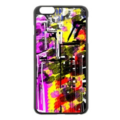 Abstract City View Apple iPhone 6 Plus Black Enamel Case
