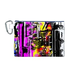 Abstract City View Canvas Cosmetic Bag (M)