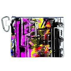 Abstract City View Canvas Cosmetic Bag (xl)