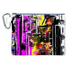 Abstract City View Canvas Cosmetic Bag (XXL)