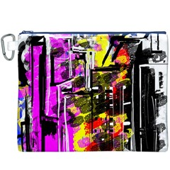 Abstract City View Canvas Cosmetic Bag (XXXL)