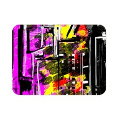 Abstract City View Double Sided Flano Blanket (Mini)
