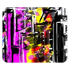 Abstract City View Double Sided Flano Blanket (Small)