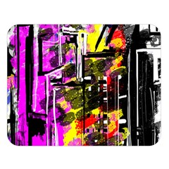 Abstract City View Double Sided Flano Blanket (large)