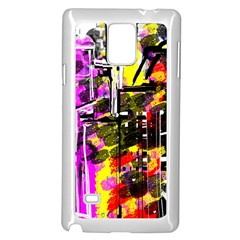 Abstract City View Samsung Galaxy Note 4 Case (White)