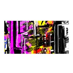 Abstract City View Satin Wrap