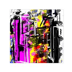 Abstract City View Small Satin Scarf (Square)