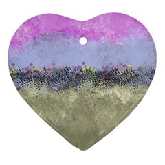 Abstract Garden in Pastel Colors Ornament (Heart)