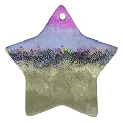 Abstract Garden In Pastel Colors Ornament (star)