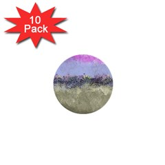 Abstract Garden In Pastel Colors 1  Mini Buttons (10 Pack)