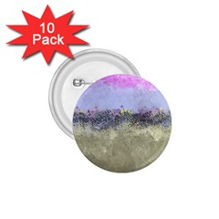 Abstract Garden in Pastel Colors 1.75  Buttons (10 pack)