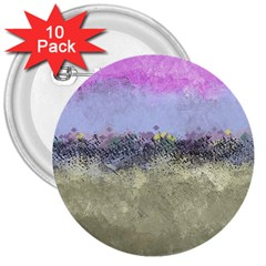 Abstract Garden in Pastel Colors 3  Buttons (10 pack)