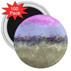 Abstract Garden in Pastel Colors 3  Magnets (100 pack)