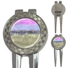 Abstract Garden in Pastel Colors 3-in-1 Golf Divots