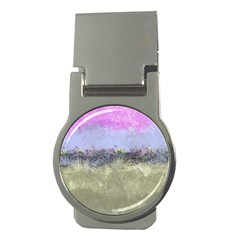 Abstract Garden In Pastel Colors Money Clips (round)
