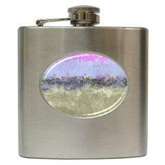 Abstract Garden in Pastel Colors Hip Flask (6 oz)