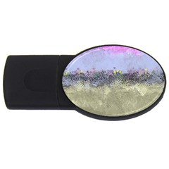 Abstract Garden in Pastel Colors USB Flash Drive Oval (2 GB)