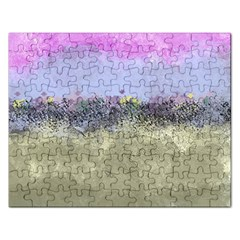 Abstract Garden in Pastel Colors Rectangular Jigsaw Puzzl
