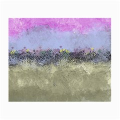 Abstract Garden In Pastel Colors Small Glasses Cloth