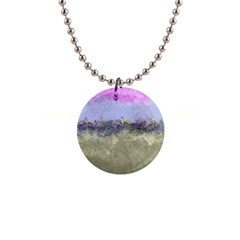 Abstract Garden in Pastel Colors Button Necklaces