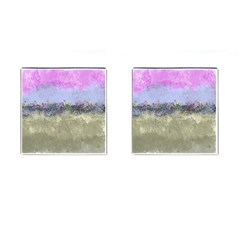 Abstract Garden In Pastel Colors Cufflinks (square)