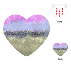 Abstract Garden In Pastel Colors Playing Cards (heart)