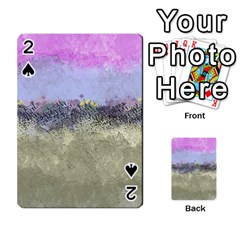Abstract Garden In Pastel Colors Playing Cards 54 Designs