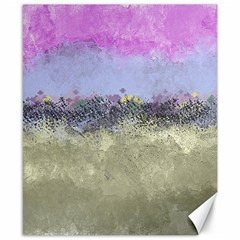 Abstract Garden In Pastel Colors Canvas 8  X 10