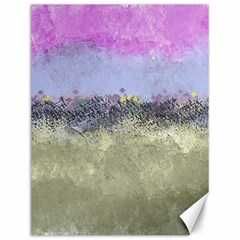 Abstract Garden In Pastel Colors Canvas 12  X 16