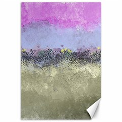 Abstract Garden in Pastel Colors Canvas 12  x 18