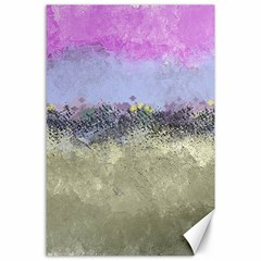 Abstract Garden In Pastel Colors Canvas 24  X 36