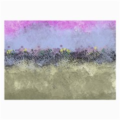 Abstract Garden In Pastel Colors Large Glasses Cloth