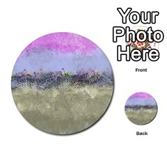 Abstract Garden In Pastel Colors Multi Purpose Cards (round)