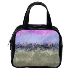 Abstract Garden In Pastel Colors Classic Handbags (one Side)