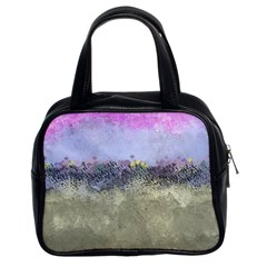 Abstract Garden in Pastel Colors Classic Handbags (2 Sides)