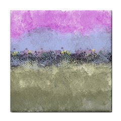 Abstract Garden in Pastel Colors Face Towel