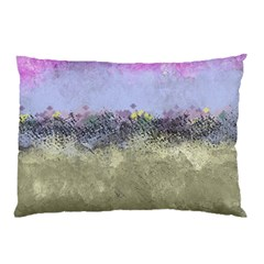 Abstract Garden in Pastel Colors Pillow Cases