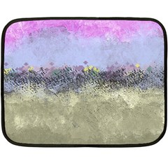 Abstract Garden in Pastel Colors Double Sided Fleece Blanket (Mini)