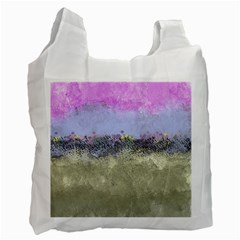 Abstract Garden in Pastel Colors Recycle Bag (Two Side)