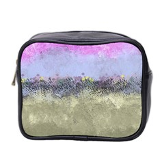 Abstract Garden In Pastel Colors Mini Toiletries Bag 2 Side