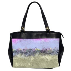 Abstract Garden in Pastel Colors Office Handbags (2 Sides)