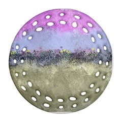 Abstract Garden In Pastel Colors Round Filigree Ornament (2side)