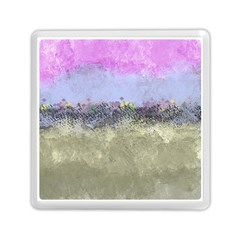 Abstract Garden in Pastel Colors Memory Card Reader (Square)