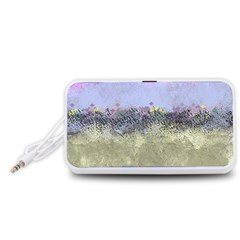Abstract Garden in Pastel Colors Portable Speaker (White)