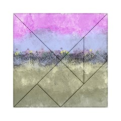 Abstract Garden in Pastel Colors Acrylic Tangram Puzzle (6  x 6 )